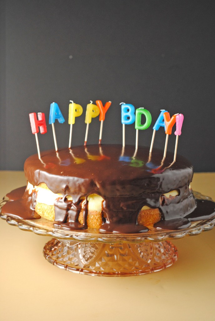 Boston Cream Pie ~ Happy Birthday UncleR! | Juanita's Cocina