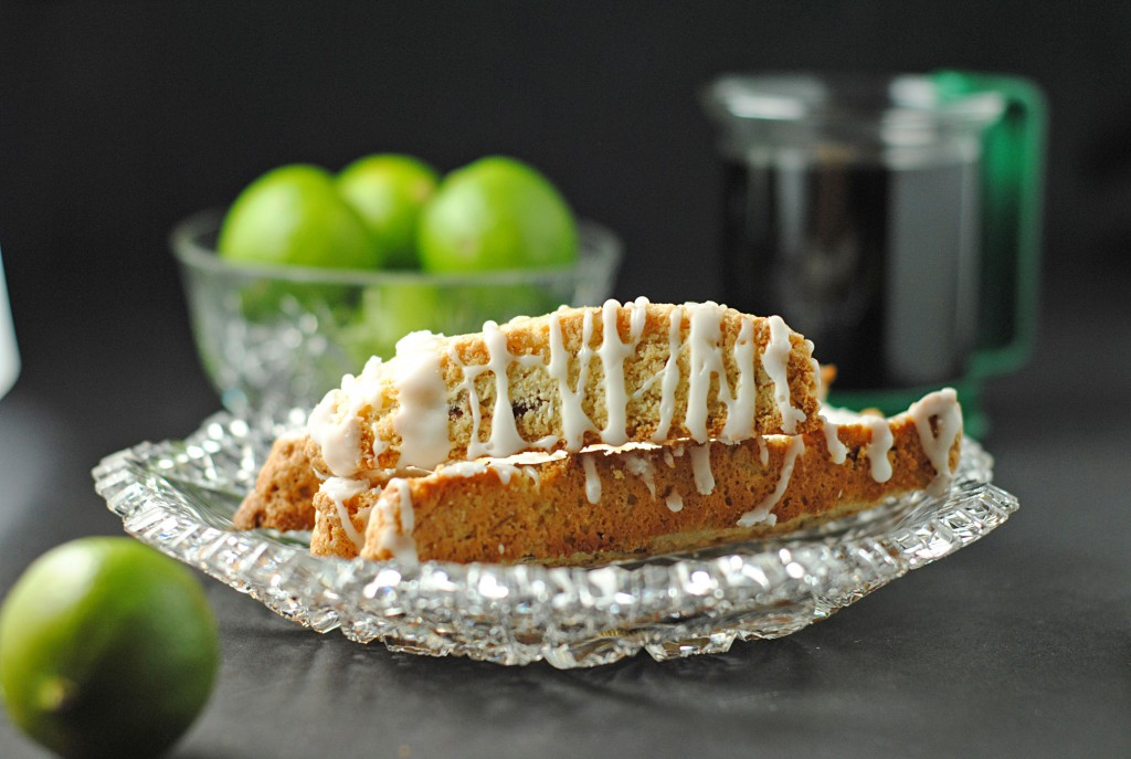 Key Lime Biscotti with Key Lime Glaze 3