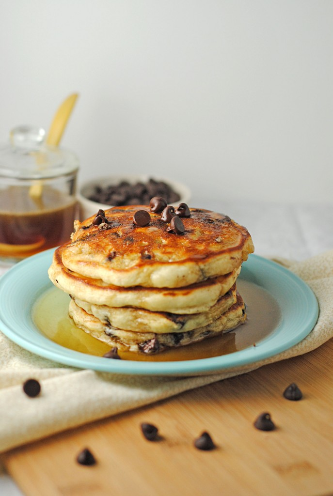 Chocolate Chip Pancakes with Maple Butter Syrup ~ A Mom Dish... | Juanita's Cocina